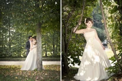 невеста в аллее