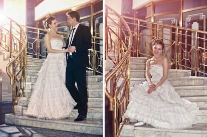 постановочная свадебная фотография